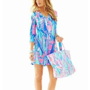 Lilly Pulitzer Size XL Ali Dress Out to Sea
